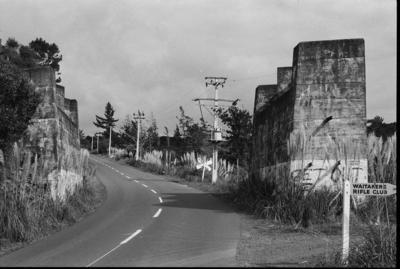 Photograph of concrete bridge abutments