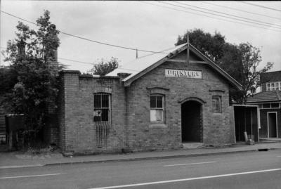 Photograph of old brick building, New Lynn