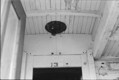 Photograph of clerestory van ceiling