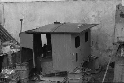Photograph of C locomotive under restoration