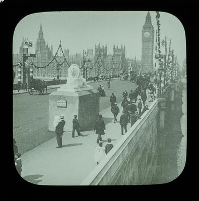 [Magic lantern slides: London views]