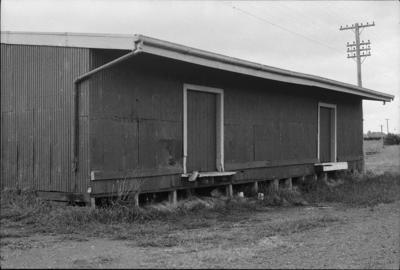 Photograph of goods shed, Kaukapakapa railway station