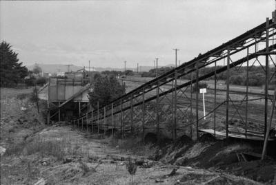 Photograph of coal loading area, Huntly mines