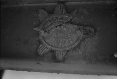 Photograph of maker's plate, guard's van F 78