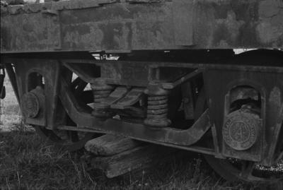 Photograph of early wagon bogie