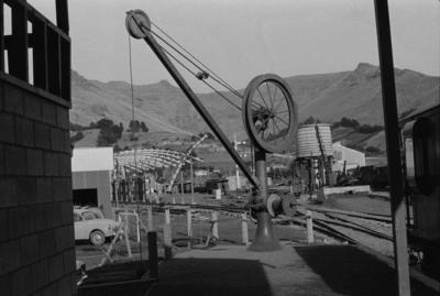 Photograph of yard crane