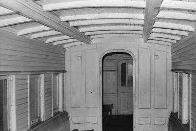 Photograph of side bench carriage interior