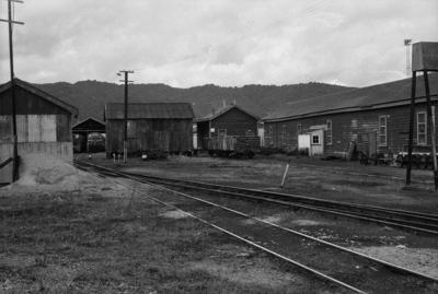 Photograph of engine sheds, Whangarei