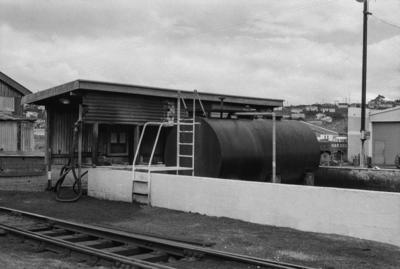 Photograph of fuel tank, Whangarei yards