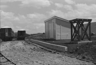 Photograph of relocated Kauri station building