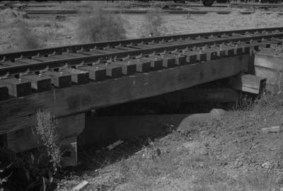 Photograph of small rail bridge