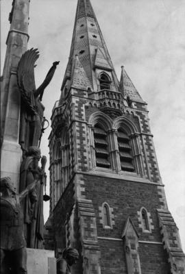 Photograph of Christchurch cathedral spire
