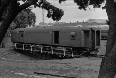Photograph of guard's van on turntable