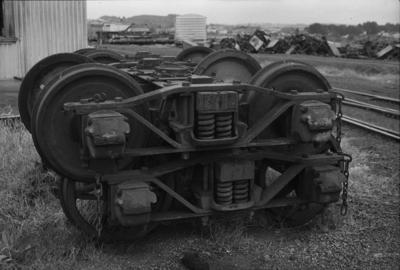 Photograph of type 3181 goods wagon bogies
