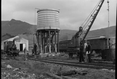 Photograph of coal crane and water tank