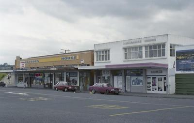 Photograph of shops, Whangarei
