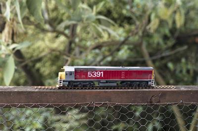 Photograph of model DX locomotive