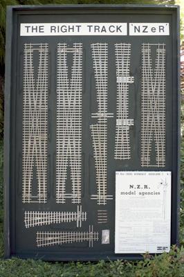 Photograph of model tracks