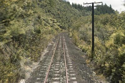 Photograph of track, Opua line