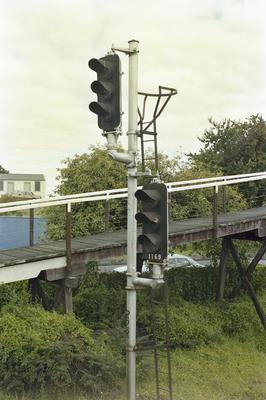 Photograph of signals and pedestrian ramp