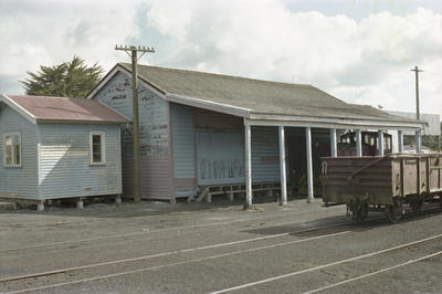 Photograph of Otiria railway station goods shed