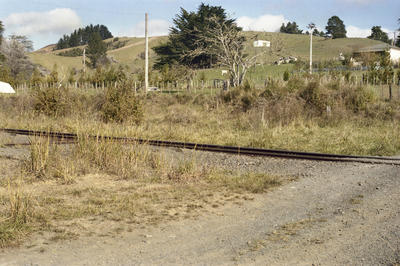 Photograph of level crossing, Ahuroa