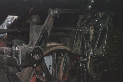 Photograph of wheels of loco J 1236