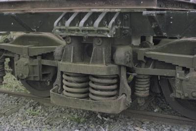 Photograph of experimental bogie