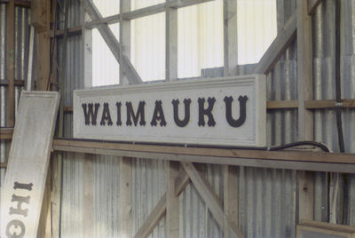 Photograph of station sign