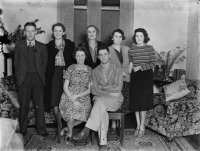 Group portrait in living room