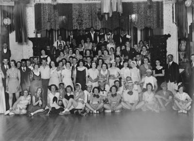 Group portrait at dance hall