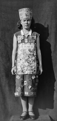 Young girl dressed in costume