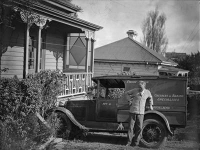 Victorian villa and 1929-1930 Ford Model A car