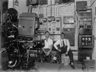 Motion picture projection room