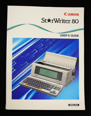 StarWriter 80 user's guide