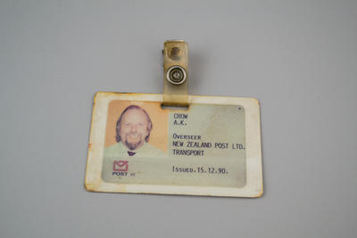 Identification Card [New Zealand Post, Transport Division]