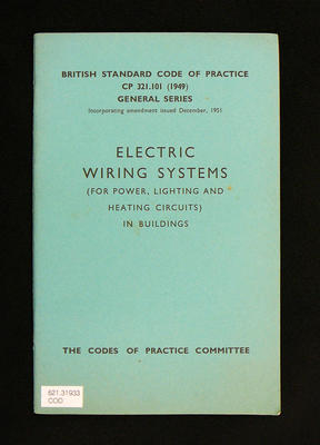 Electric wiring systems (for power, lighting and heating circuits) in buildings