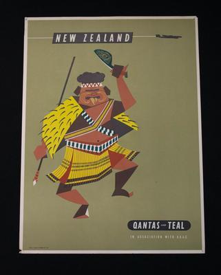Poster [Teal/Qantas Advertising]