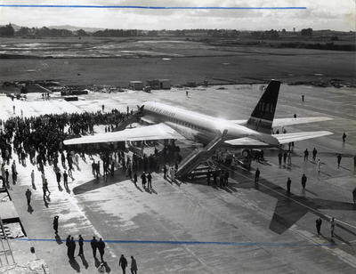 Air New Zealand DC8 at the opening of Mangere