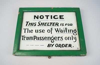 Sign [Tram Shelter Notice]