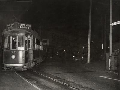 Last tram to Three Kings, 1956