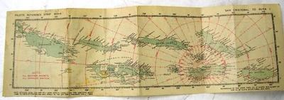 Pilots reference strip 955-A; San Cristobal to Buka; ; Aug 1943