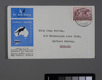[Opening of the air mail service between Australia and England by Qantas Empire Airways and Imperial Airways]