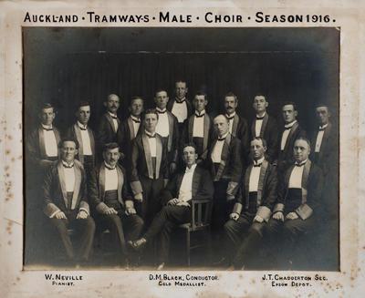 Auckland Tramways Male Choir Season 1916