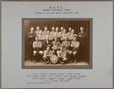 A.C.T.C. Rugby Football Team