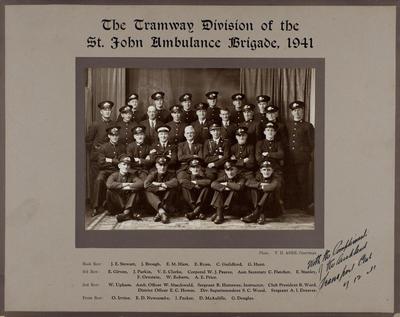 The Tramway Division of the St. John Ambulance Brigade, 1941