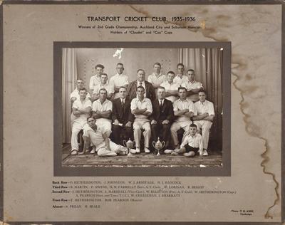 Transport Cricket Club, 1935-1936