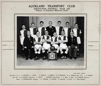 Auckland Transport Club Association Football Team 1955