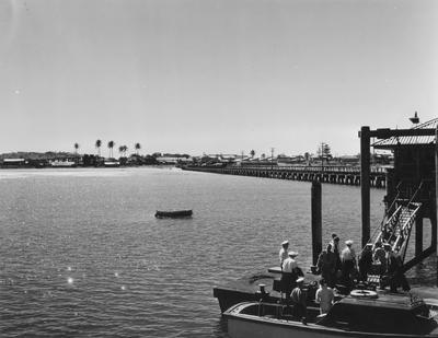 Launch at wharf