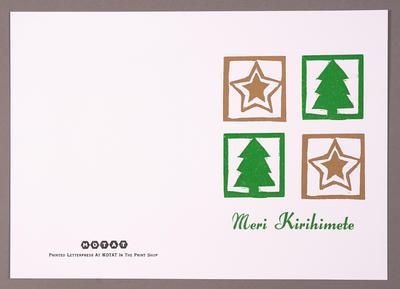 Meri Kirihimete [MOTAT Christmas card]